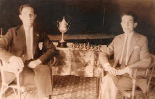 Los ajedrecistas Joan Claret y Joan Vilajosana