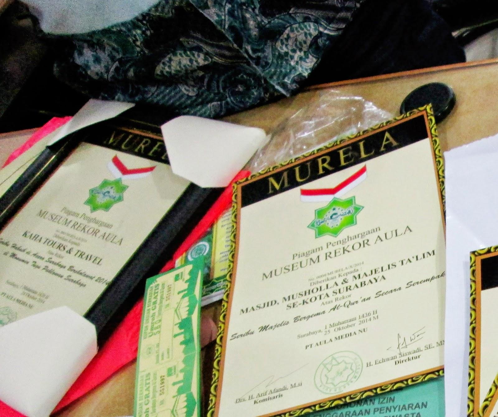 Alhamdulillah, Lembaga Pencatat Rekor Islami MURELA Telah Dibentuk