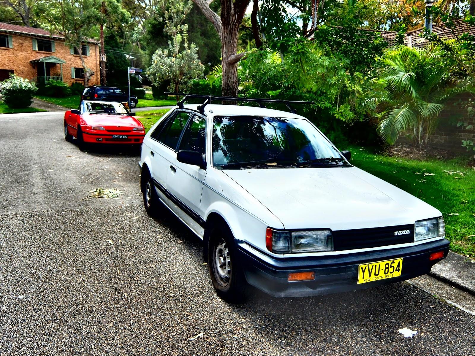 Aussie Old Parked Cars: 1985 Mazda BF 323 1.6 5-door Hatchback