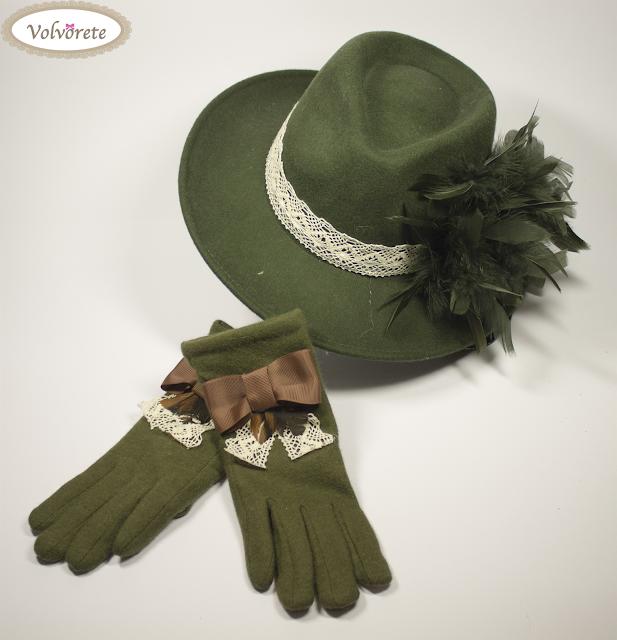 Sombrero y Guantes Verdes Volvorete