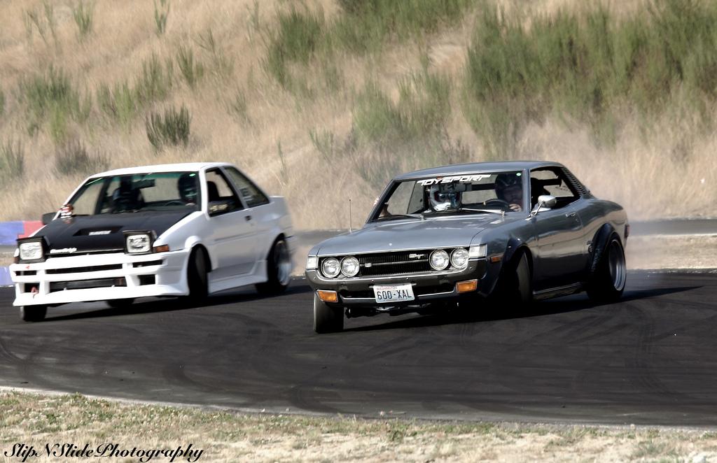 dawne samochody, sportowe, klasyczne, Toyota Celica, classic car, przód, drift