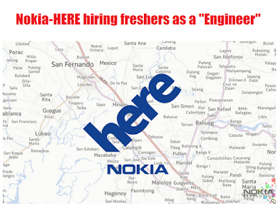 "Nokia-HERE hiring freshers as a ""Engineer"""