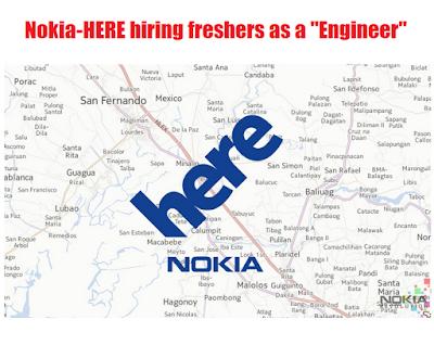 "Nokia-HERE hiring freshers as a ""Engineer"""