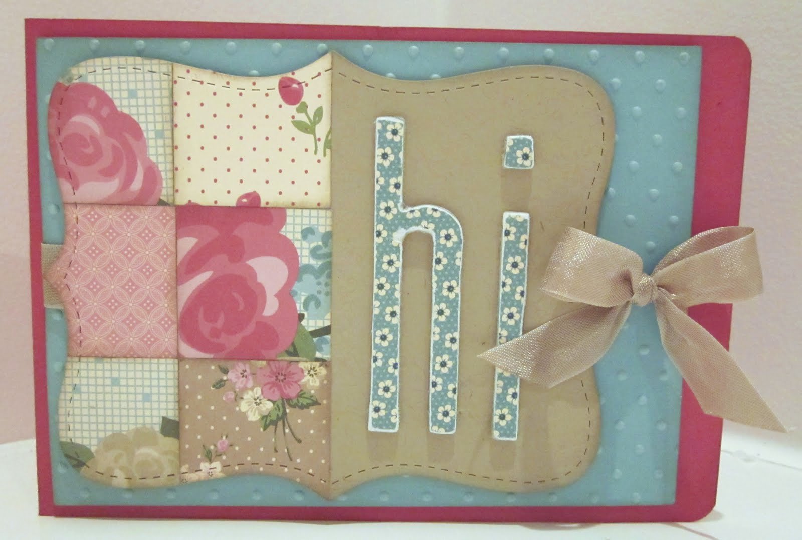 Half Patchwork Top Note Die Mini Tutorial