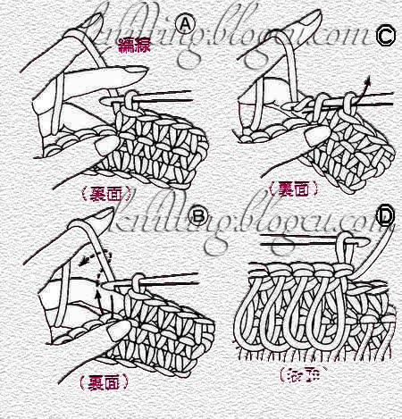 Вязание мочалки с вытянутыми петлями схема с описанием