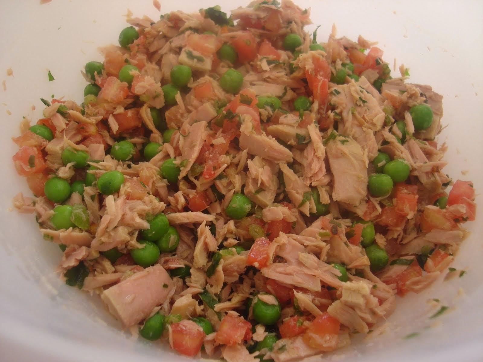Salada de atum com ervilhas light