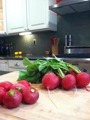 radishes, fresh, crisp