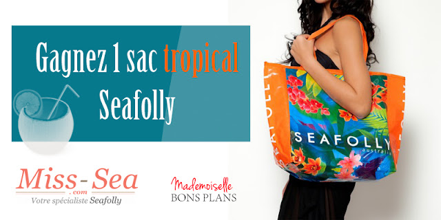 Jeu Miss Sea et Mademoiselle Bons Plans: 1 Sac De Plage Tropical Carried Away à gagner