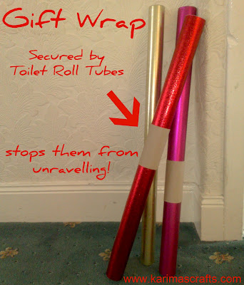 toilet roll tubes gift wrap holder idea muslim blog