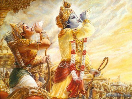 Krishna and Arjun