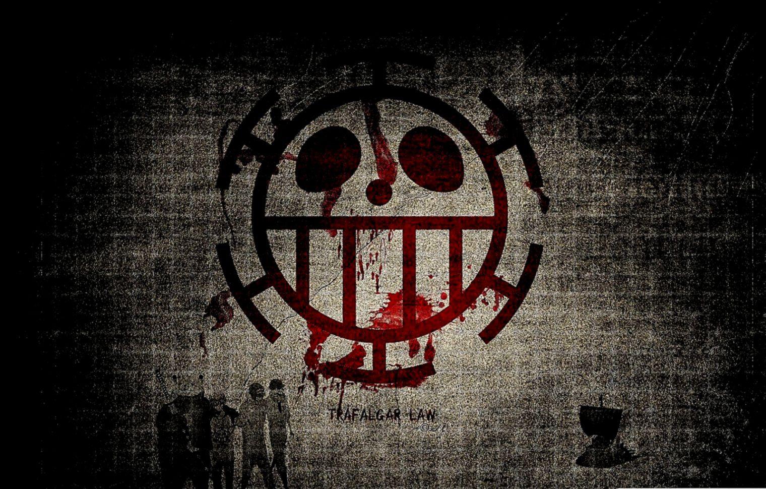 logos trafalgar law one piece pirate logo hd wallpapers