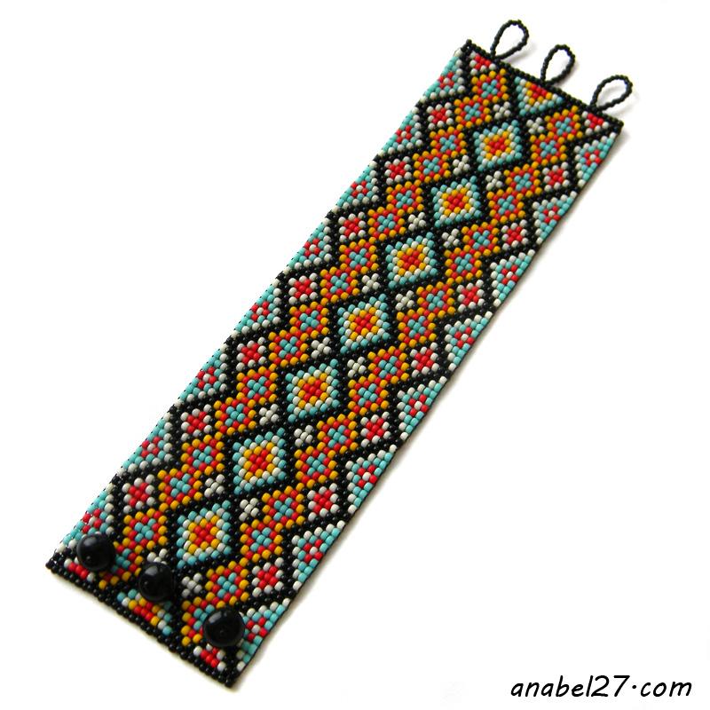 купить этнические украшения яркие браслеты