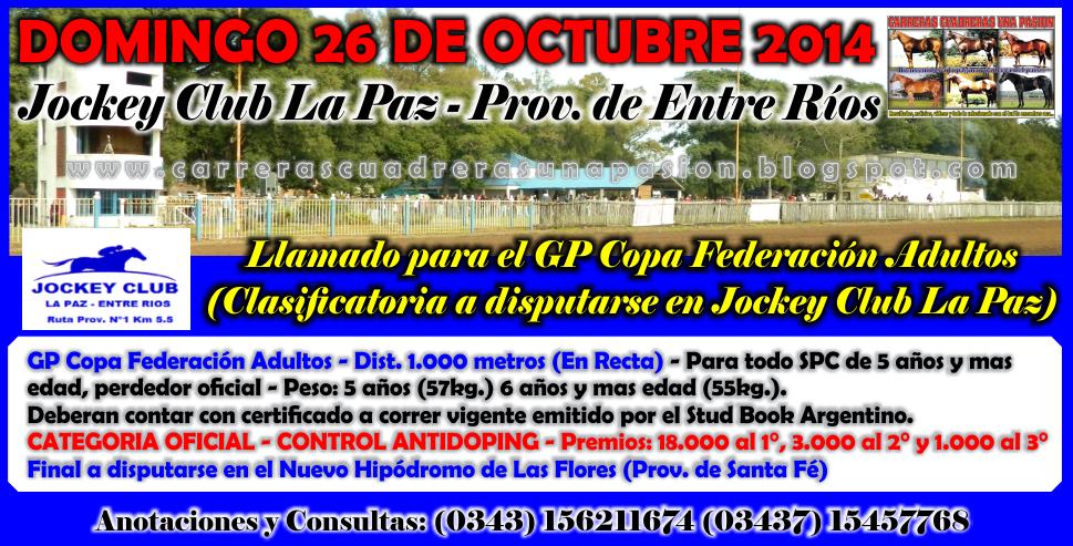 LA PAZ - REUNION 26.10.2014