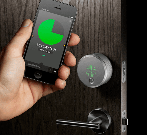 The August Lock allows home owners to enter without a key