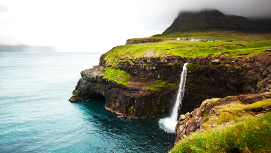 One of the most remote waterfalls out there, Bøssdalsfossur Falls cascades off an archipelago that is set about halfway between Norway and Iceland. The Faroe Islands are an independent country, among the least populated in the world with less than 50,000 total residents to date—the town near the falls was home to only 16 people in 2002. The Islands are best known for fresh fish, wildlife and stunning natural beauty and though the waterfall is one of many beautiful features on the island, it's one that people love to visit and photograph.
