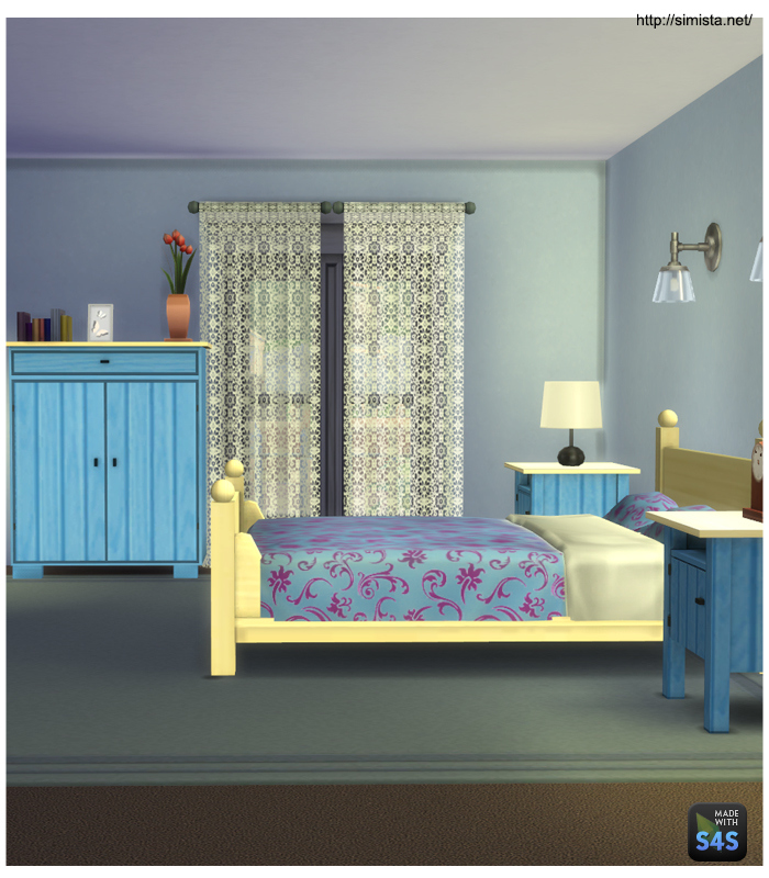 My sims 4 blog country cottage bedroom set by mr s for Country cottage bedroom