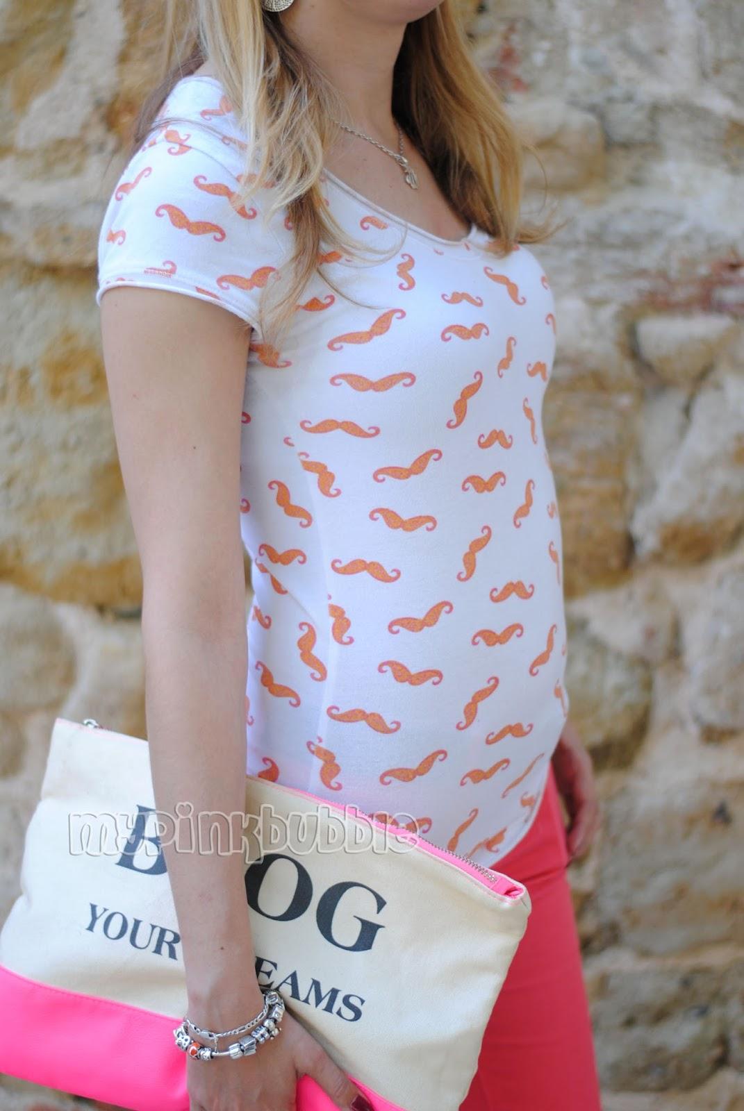 camiseta bigotes naranja