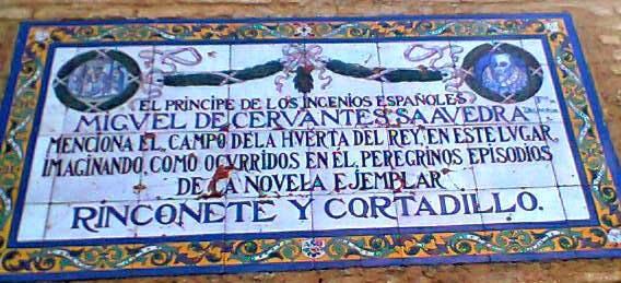 Sevilla vista a los 80 a os azulejos cervantinos for El rey de los azulejos