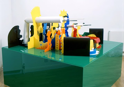 Perspective Cartoon Sculptures by James Hopkins Seen On www.coolpicturegallery.us
