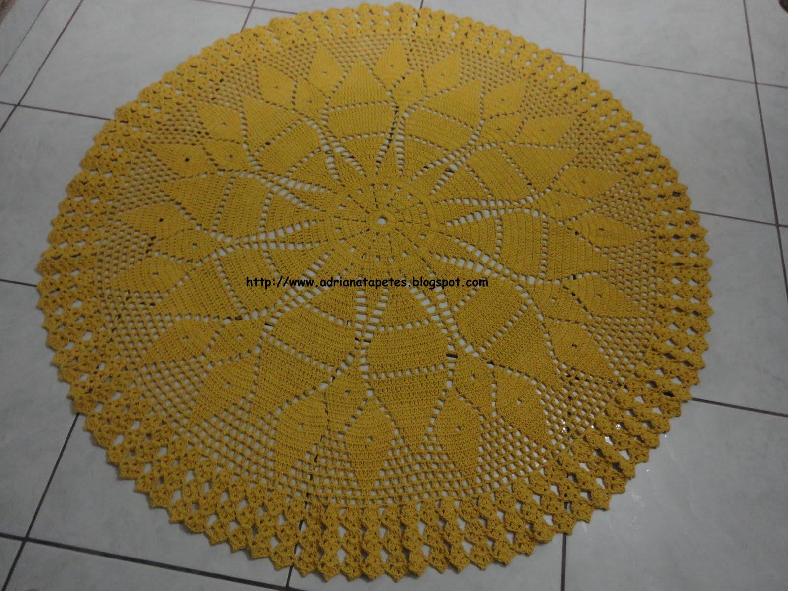 Tapete Para Sala De Jantar Redondo ~ Tapetes de Crochê Tapete Redondo de Sala