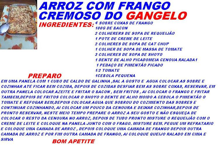 ARROZ COM FRANGO CREMOSO