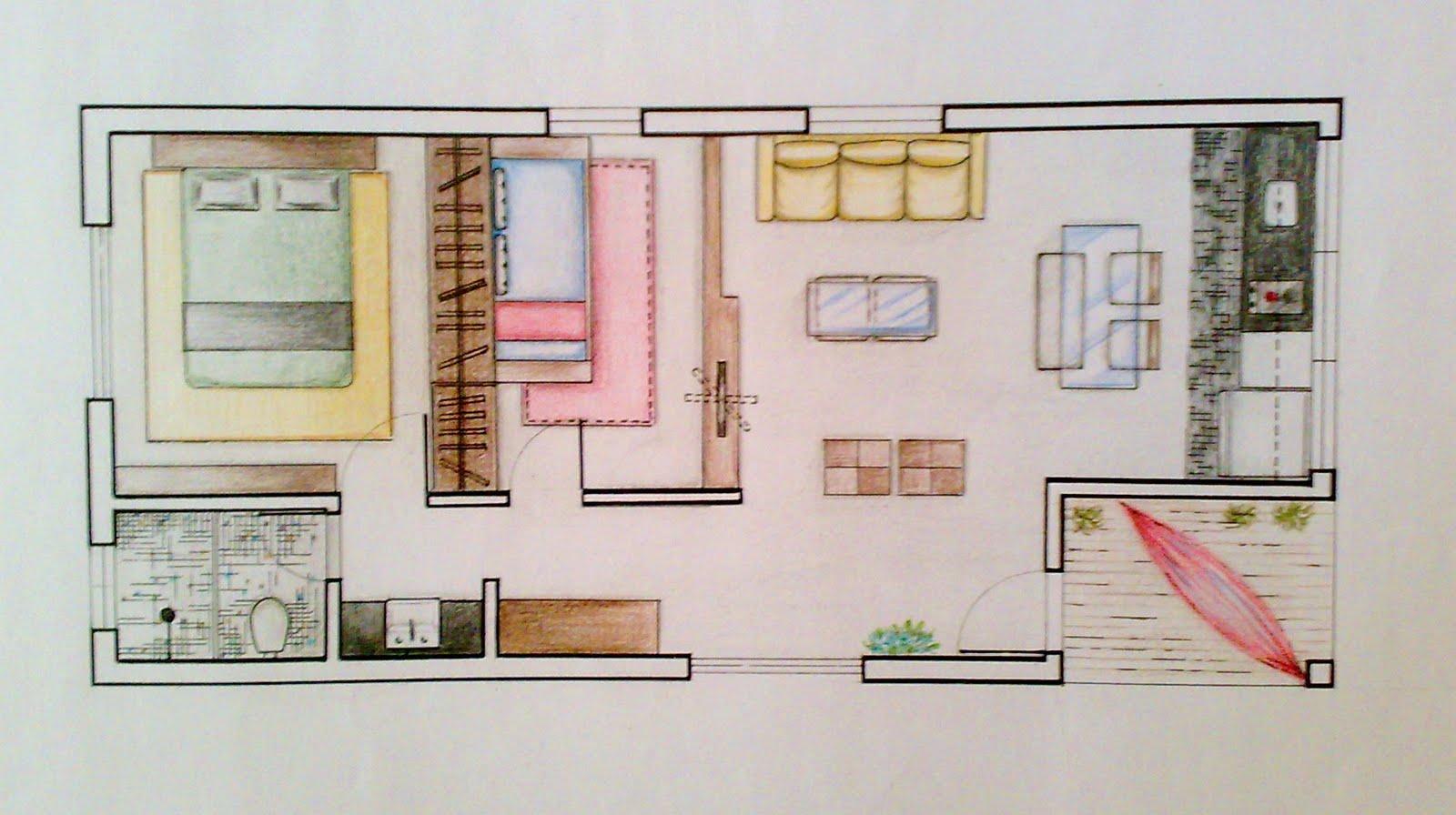 Vivarte alguns trabalhos que executei no curso t cnico de for Curso de design de interiores no exterior