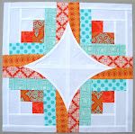 """Curve it up"" QAL ~ Block #7 ~ Log Cabin"