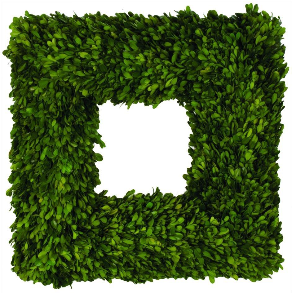 Sage Co. Boxwood Square Wreath
