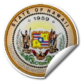Sticker of Hawaii Seal