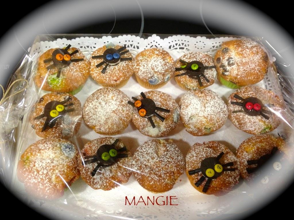 Magdalenas decoradas para Halloween