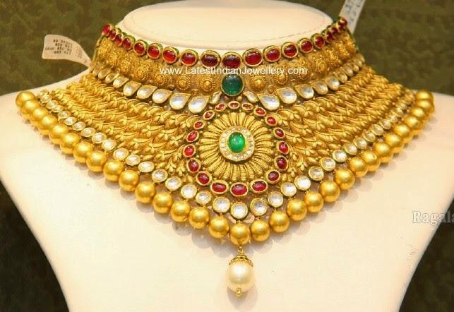 malabar gold bridal choker necklace