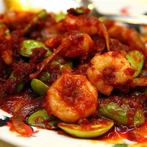Udang Masak Sambal Petai Simple