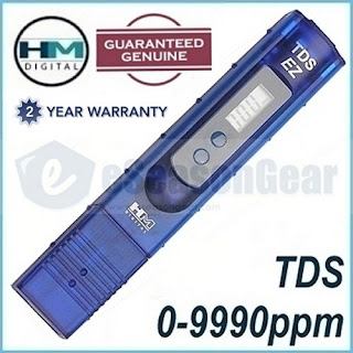 HM Digital TDS-EZ PPM Tester, Water Quality Purity Test Hydroponics - METER ONLY