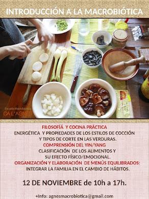 CURSO INTRODUCCIÓN A LA MACROBIÓTICA EN CUBELLES (BARCELONA)