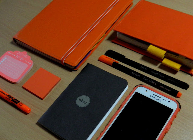 Planning for 2016 has a theme of orange and black.