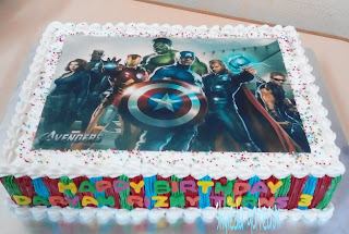 Shyieda Gateaux Homemade Melaka Avengers cake and cupcake for Daryan