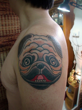 dog by bamboo tattoo tiki phangan thailand