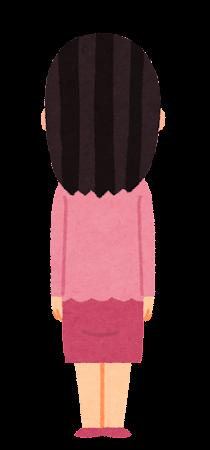 女性のイラスト(後ろ向き)