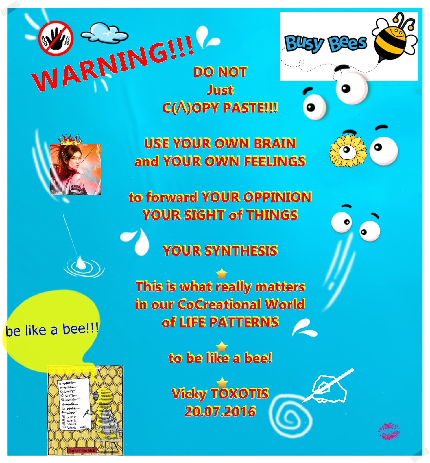 WARNING DO NOT Just C(L)OPY ~