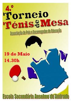 4.º TORNEIO DE TÉNIS DE MESA