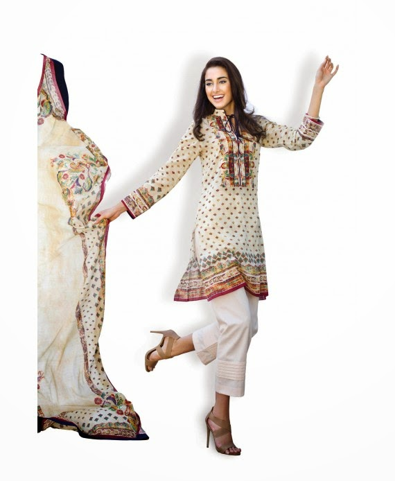 Colourful lawn suits 2015