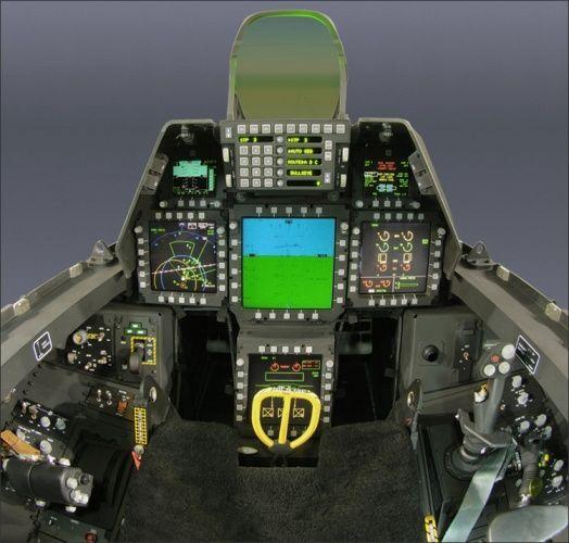 Kokpit F-22 Raptor