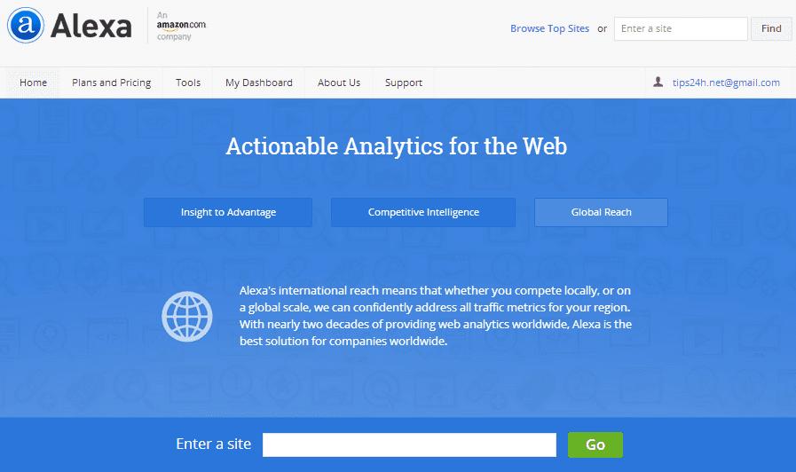 Cách cài đặt alexa widget cho website/blog 2014