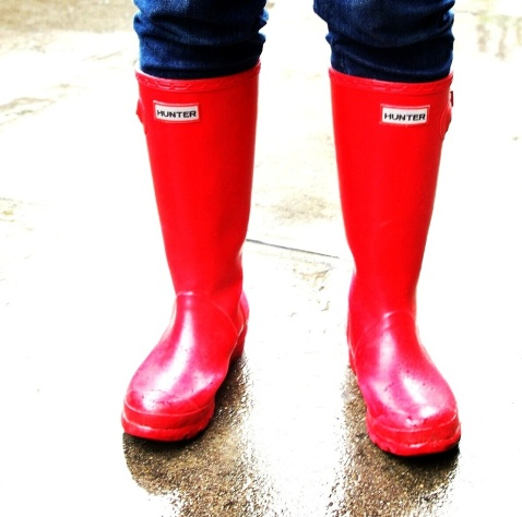 Fire engine Red Rainboots Hunter New York City