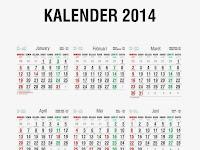 Hari Libur Nasional dan Cuti Bersama Kalender Tahun 2014