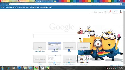 Tukar Google Chrome Theme