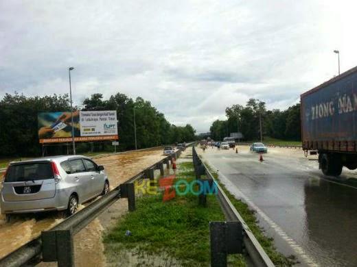 5 Gambar: LPT Banjir, Laluan Di TUTUP Kepada Semua Lalulintas