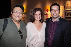 Eu, Elaine Verçosa e Paulo Santos