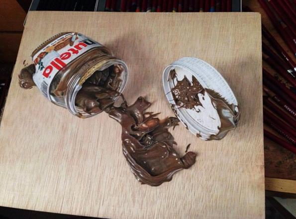 Lukisan 3Dimensi Nutella oleh Ivan Hoo