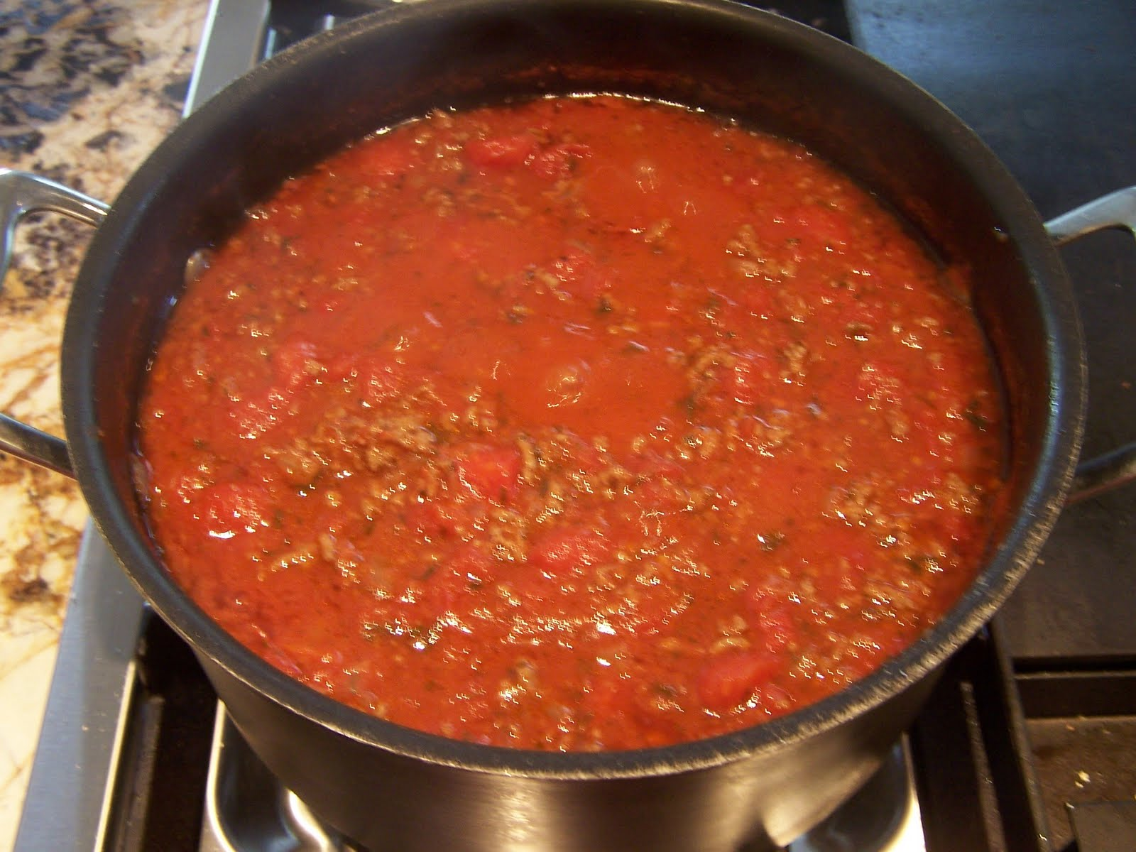 ... you sauce with ground beef spaghetti and meat sauce add ground beef or